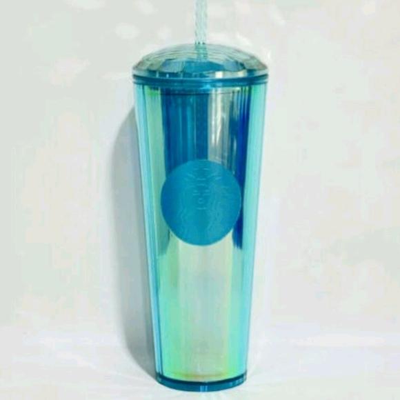 Starbucks Kaleidoscope Turquoise Teal Diamond Cold